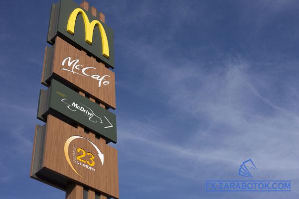большой указатель Макдональдс в Америке